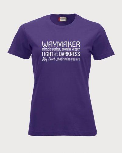 """T-skjorte med """"Waymaker""""-refreng"""
