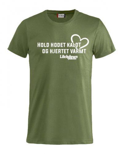 T-skjorte med «Hold hodet kaldt…»